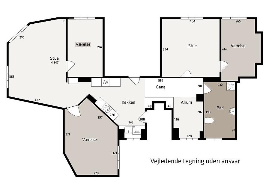 Østerbro v. Nordhavn 5 vær. 149 m2. Ideel delelejlighed